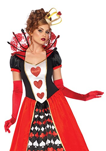 (Leg Avenue Women's Wonderland Queen of Hearts Halloween Costume, Multi,)