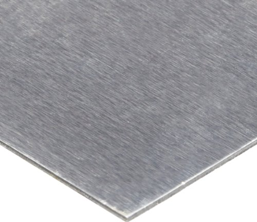 1100 Aluminum Shim Stock, AISI 1100-H18/AMS 4013, 0.125'' Thick, 24'' Width, 24'' Length, 0.002'' Laminate Layers by Small Parts