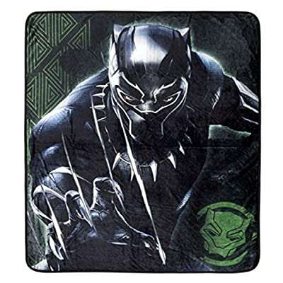 Marvel Black Panther Super Plush Throw Kids Blanket for Boys - 48 x 60 Inch [Black]: Home & Kitchen