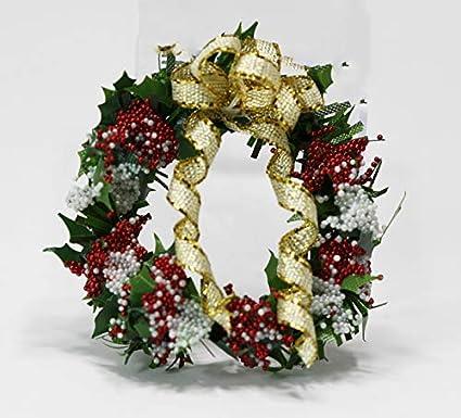 Dollhouse Miniature Wreath for Christmas Choice of One 1:12 scale