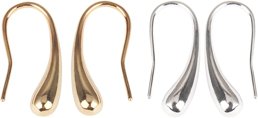 Front Back Earrings Drop Gold Crystal Post Back Jewelry New Style Teardrop