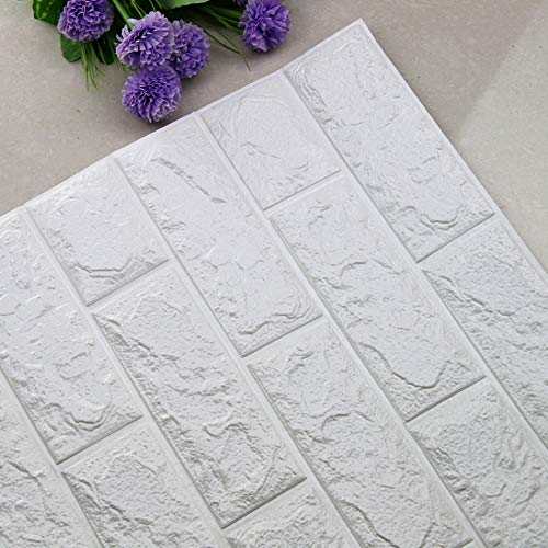 LinqiudD DIY 3D Brick PE Foam Wallpaper Panels Room Decal Stone Decoration Embossed (A)