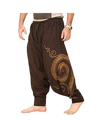 dc115d3a27 Men Harem Pants, Swirl Print Baggy Dance Sport Boho Aladdin Yoga Sweat  Trousers