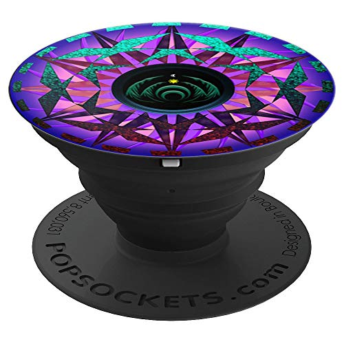 Rave EDM Electronic Dance Music Festivals Forest Basshead - PopSockets Grip and Stand for Phones and Tablets