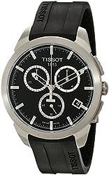 Tissot Men's T0694174705100 Quartz Titanium Black Dial Chronograph Watch