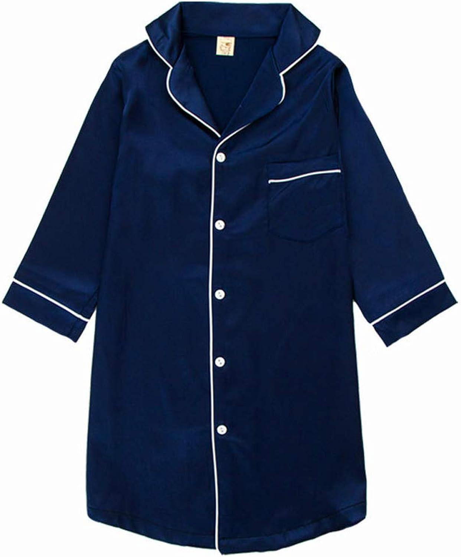 12 Years BAIYIXIN Childrens Nightgown Silk Satin Sleepwear Girls Boys Long Sleeve Loungewear Unisex 1 Toddler