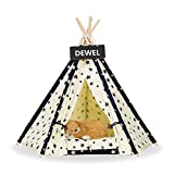 DEWEL Pet Teepee Removable Washable Dog Bed Portable Little Star Cat Tent Pet Sweet House for Dog Cat Pet (Without Cushion) - L