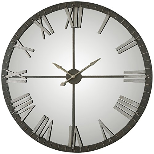 Grace Feyock Collection (Uttermost 06419 Amelie Bronze Wall Clock, Large)