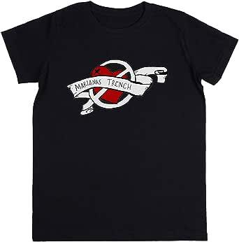 Wigoro Marianas Trench Design Niños Unisexo Chicos Chicas Negro Camiseta Kids Unisex T-Shirt