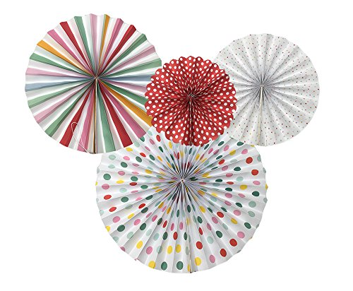 Monkey Home A Variety Of Paper Fans Party Fans,8 Decorative Fans Colourful by Monkey Home (Image #2)