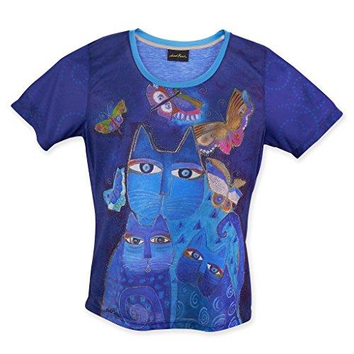 laurel-burch-womens-shirt-indigo-cats-xx-large