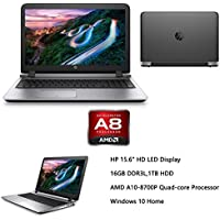 HP ProBook 15.6 Premium Performance Laptop (2016 Flagship Model), AMD A10-8700P, 16GB RAM, 1TB HDD, AMD Radeon R6, SuperMulti DVD, HDMI, Webcam, Windows 10