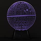 SAVFY 3D Death Star Bulbing Bedroom Decorative Night Multi 7 Color Change USB Touch Button LED Desk Table Light Lamp