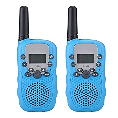 Camkiy Walkie Talkies Twin Toy for Kids Easy To Use 2-Way Radio 3-5km Range Gift