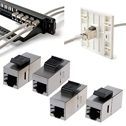 Computer Cables Open-Smart Shielded Pass-Through Network Module Gold-Plated RJ45 Connector Socket Jack - (Cable Length Cat5e)
