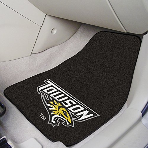 Fanmats Towson University 2-Pc Carpet Car Mat Set 17x27 Brand (Fanmats Towson University)