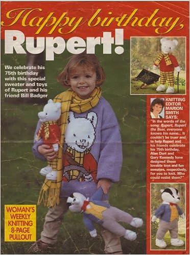 Childrens Rupert Bear Motif Sweater And Toy Rupert Bear Toy Bill