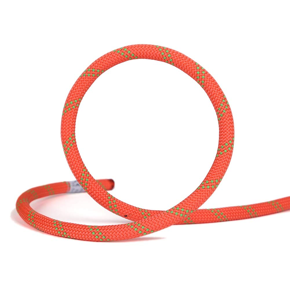Diameter 10mm Escalade Corde Corde d'escalade Statique, Corde de Rappel de sécurité Orange pour Le ménage, Corde d'extérieur en Plein air, Corde d'alpinisme 80m