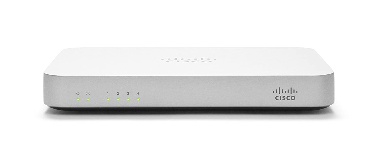Cisco Meraki MX60 Small Branch Security Appliance (100Mbps FW Throughput  5xGbE Ports, Dashboard and Cloud Controller License Required)