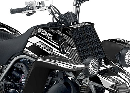 Yamaha Banshee Graphics - Racer-X Black Background, White Design by Invision Artworks (Image #3)