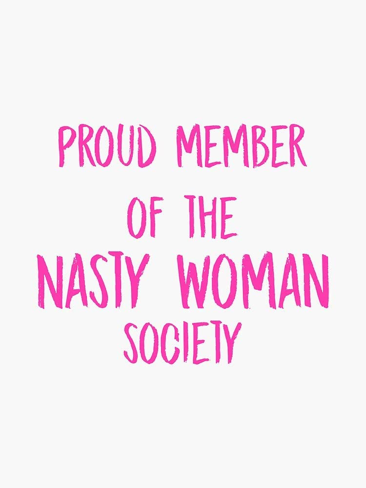 MAGNET Anti-TrumpProud Member of the Nasty Woman Society Magnetic Vinyl Car Bumper Sticker 5