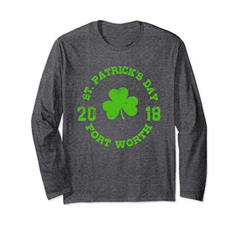 Unisex Fort Worth St. Patrick's Day 2018 Long Sleeve Shirt 2XL Dark - Fort Worth St
