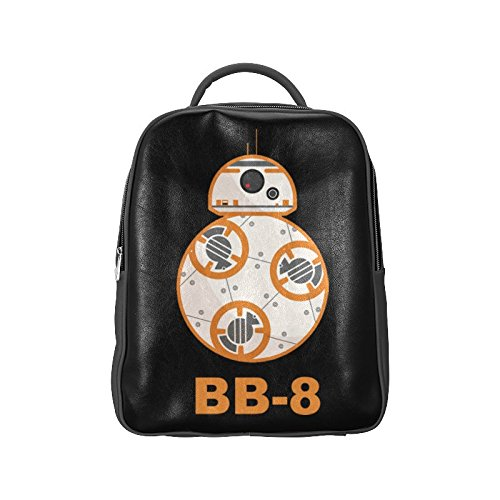 [Navarro Star Wars BB8 Robot Unisex School High-grade PU Leather Backpack Bag Shoulder Bag] (Luke Skywalker Dark Side Costume)
