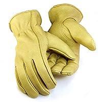 Northstar Womens Tan Deerskin Gloves (Unlined), Elastic Wrist 012T