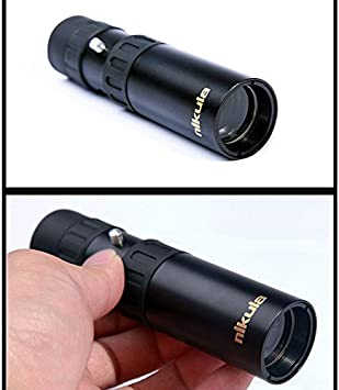 Koisy Fernglas Nikula 10 30x25 Zoom Monokularteleskop Pocket Jagd Optisches Prisma Scope Sport Freizeit