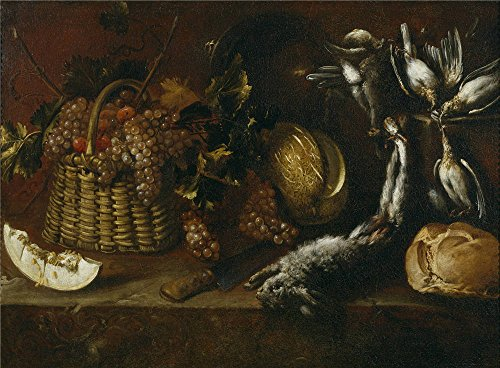 Oil Painting 'Pereda Y Salgado Antonio De Bodegon De Caza Y Fruta 1651', 10 x 14 inch / 25 x 35 cm , on High Definition HD canvas prints is for Gifts And Foyer, Home Office And Kids Room (Single Shot Rifle Manufacturers)