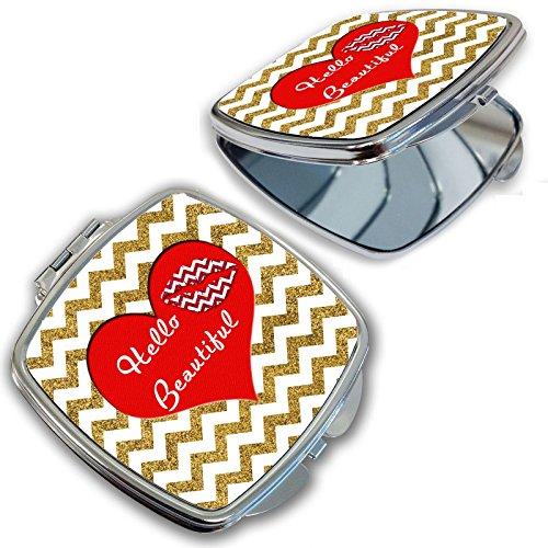 BleuReign(TM) Hello Beautiful Red Heart Compact ()