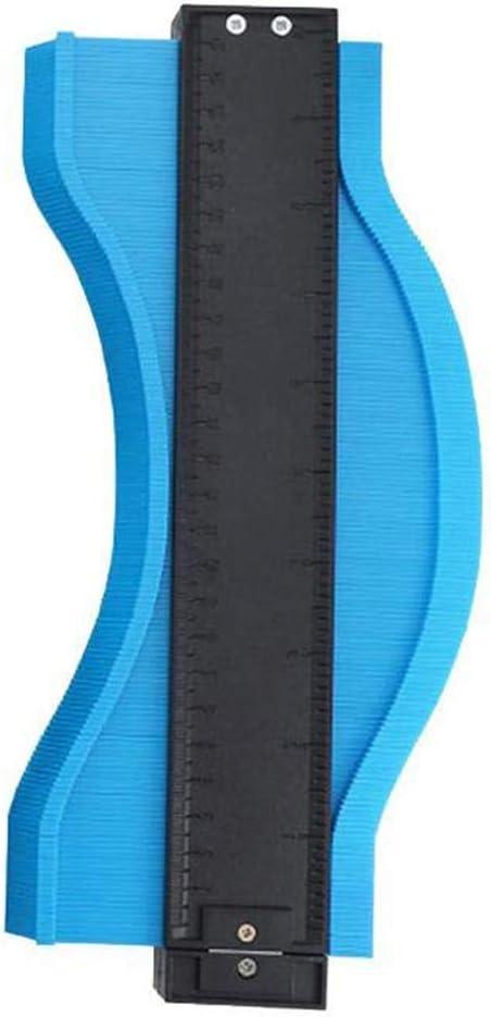 HYG Konturmessger/ät Mit Skala Gerade Kopieren Unregelm/ä/ßige Formen Mess Profile Tool Spur Multifunktionale Lineal Messen for Ausschnitt Fu/ßboden Fliesen Teppich Color : Blue, Size : 12cm