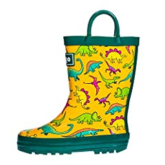 ♥High Quality Materials Bring Your Children a Cozy Wearing Experience- Hibigo selects well resilient natural rubber for flexible upper and use extra soft cotton lining to produce the most comfortable rain boots for your kids. We are devoted t...