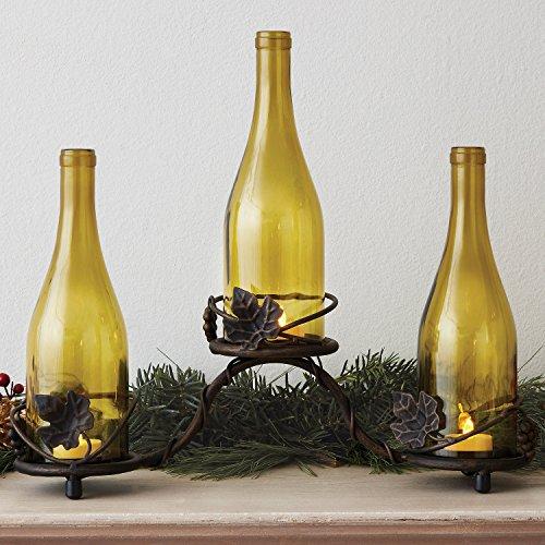 Grapevine Wine Bottle Candle Holder - Grapevine Candle Wine Holder