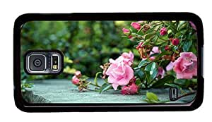 Hipster fashion Samsung Galaxy S5 Case rose bushes PC Black for Samsung S5