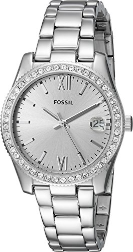 Fossil Women's 'Scarlette' Quartz Stainless Steel Casual Watch, Color:Silver-Toned (Model: ES4317) by Fossil