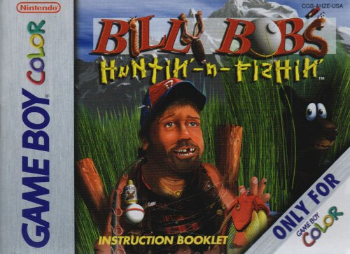 billy-bobs-huntin-n-fishin-gbc-instruction-booklet-game-boy-color-manual-only-no-game-nintendo-game-