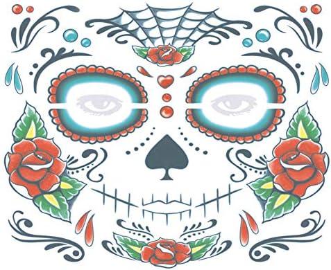 Xuxuou 15*25cm Facial Tatuaje Diseños Impermeables de Holloween ...