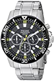 Pulsar Men's PT3641X Analog Display Analog Quartz Silver Watch
