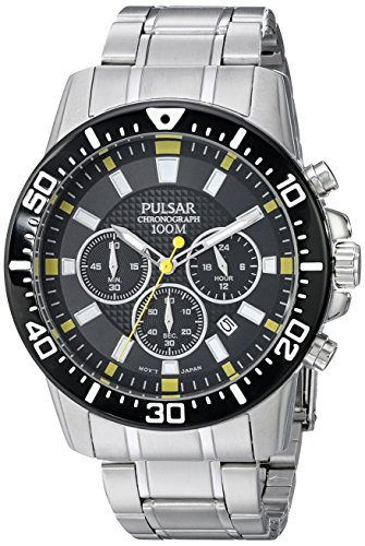 Analog Pulsar Digital - Pulsar Men's PT3641X Analog Display Analog Quartz Silver Watch