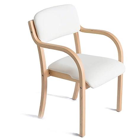 Amazon.com: YI KUI silla de comedor nórdica de madera maciza ...