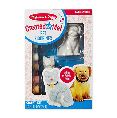 (Melissa & Doug Decorate-Your-Own Pet Figurines Craft Kit - Paint a Cat and Dog)