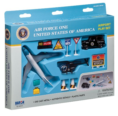 Airforce One United States of America Airport Playset Presidential Helicopter