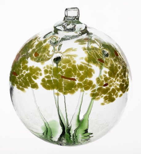 Kitras 6-Inch Blossom Ball Glass Ornament, Good Luck