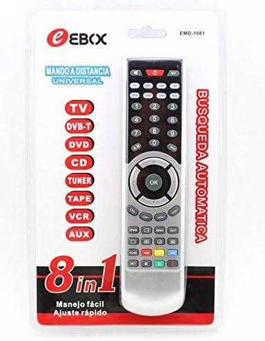 MANDO A DISTANCIA PARA TV TELEVISION 8 EN 1 DVB DVD CD TUNER TAPE VCR AUX: Amazon.es: Electrónica