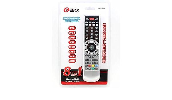 MANDO A DISTANCIA PARA TV TELEVISION 8 EN 1 DVB DVD CD TUNER TAPE ...