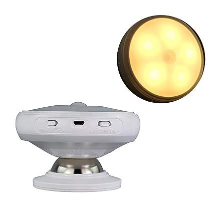 Keyi le Luz de Sensor de Movimiento, Luz Nocturna giratoria de 360 Grados