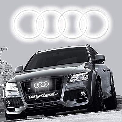 Motorfox Led Emblem Logo Front Grill Illuminated Glow Light Badge White 11,2 inch: Automotive