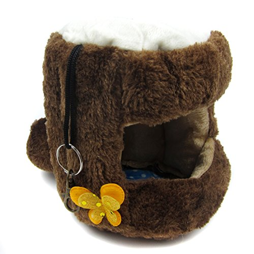 Alfie Pet by Petoga Couture - Lucian Hanging Bed for Small Animals like Dwarf Hamster and Mouse - Color: Brown, Size: Small by Alfie