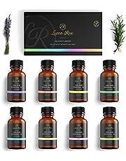 Luana Rose - Set etherische oliën - 100% veganistisch en natuurlijk - 8x diffuser oliën voor aromatherapie - Geschenkset voor diffuser - Vanille - Roos - Lavendel - Eucalyptus en nog veel meer